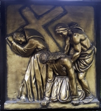 Stations of the Cross V Simon of Cyrene helps Jesus carry the Cross