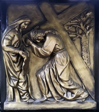 Stations of the Cross VI Veronica wipes the face of Jesus