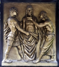 Stations of the Cross X Jesus is stripped of his Garments