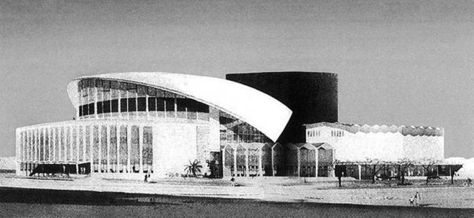 1950s Proposed Jose Rizal Cultural Center by Anselmo Alquinto