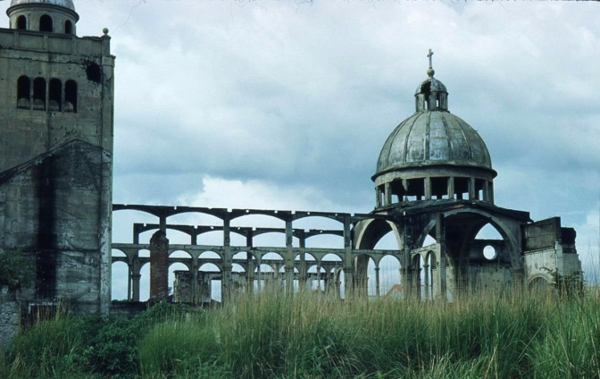 1950s Ruins of the Lourdes Church, Intramuros, Manila