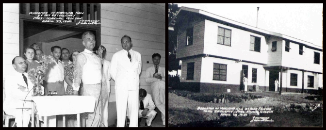 26 1940 President Manuel Quezon dedicates the Marikina Hall to the Jewish Refugees