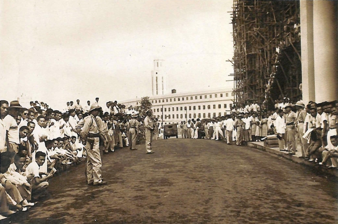 28 1949 The Reconstruction of the Legislative Building with scaffolding, Manila
