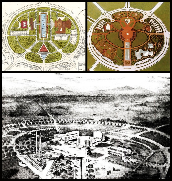 06 1951 Floor Plan & Scale Model of the Quezon Memorial by Arch. Federico S. Ilustre (1912–1989)