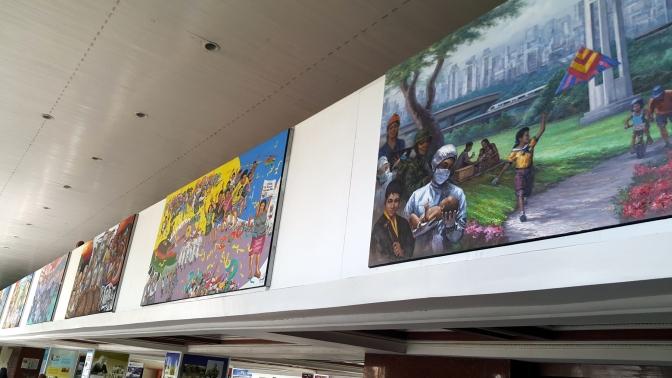 19 2014 Erehwon Art Collective - History of Quezon City Murals, Quezon City Hall