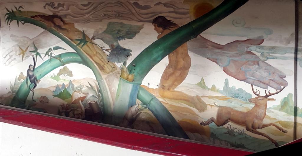 1980 Mural of Malakas at Maganda by Victor Cabisada and Peter Alcantara