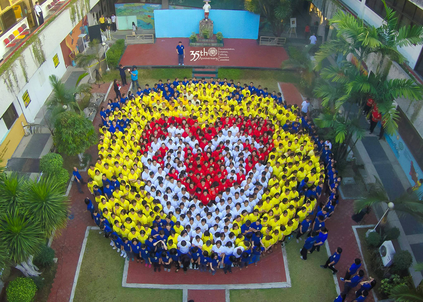 2015 March 9, PCMC Human Logo Formation by 646 employees, photograph c/o the PCMC